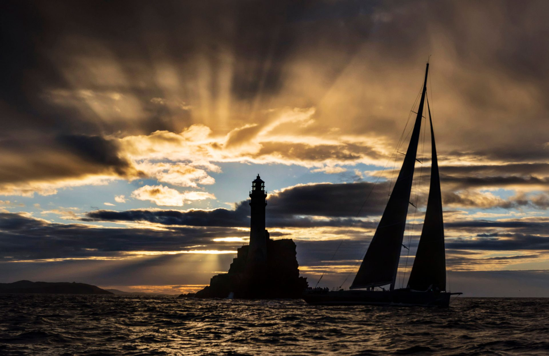 Sunrise at Fastnet Rock