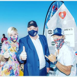 Little Optimist Global Challenge - Liezel van der Westhuizen, Alderman James Vos and Greg Bertish