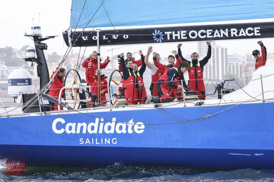 The finish of Leg 1 of The Ocean Race Europe from Lorient, France to Cascais, Portugal.